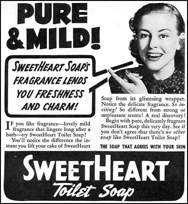 SWEETHEART TOILET SOAP WOMAN'S DAY 05/01/1940 p. 56