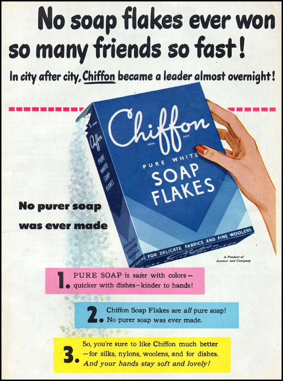 CHIFFON SOAP FLAKES WOMAN'S DAY 06/01/1947 p. 17