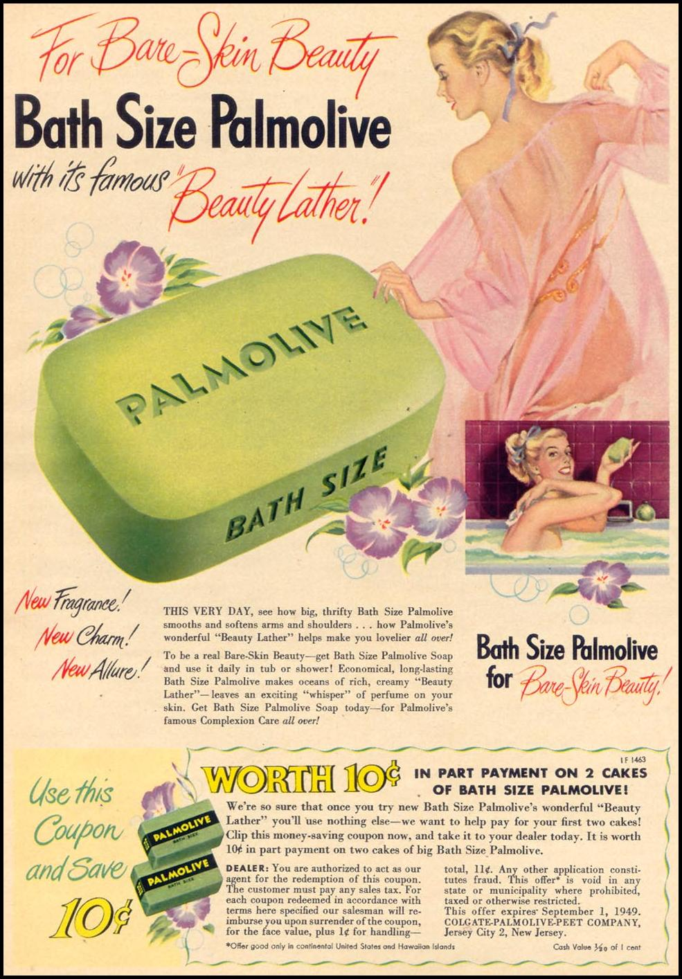 PALMOLIVE SOAP WOMAN'S DAY 06/01/1949 p. 31