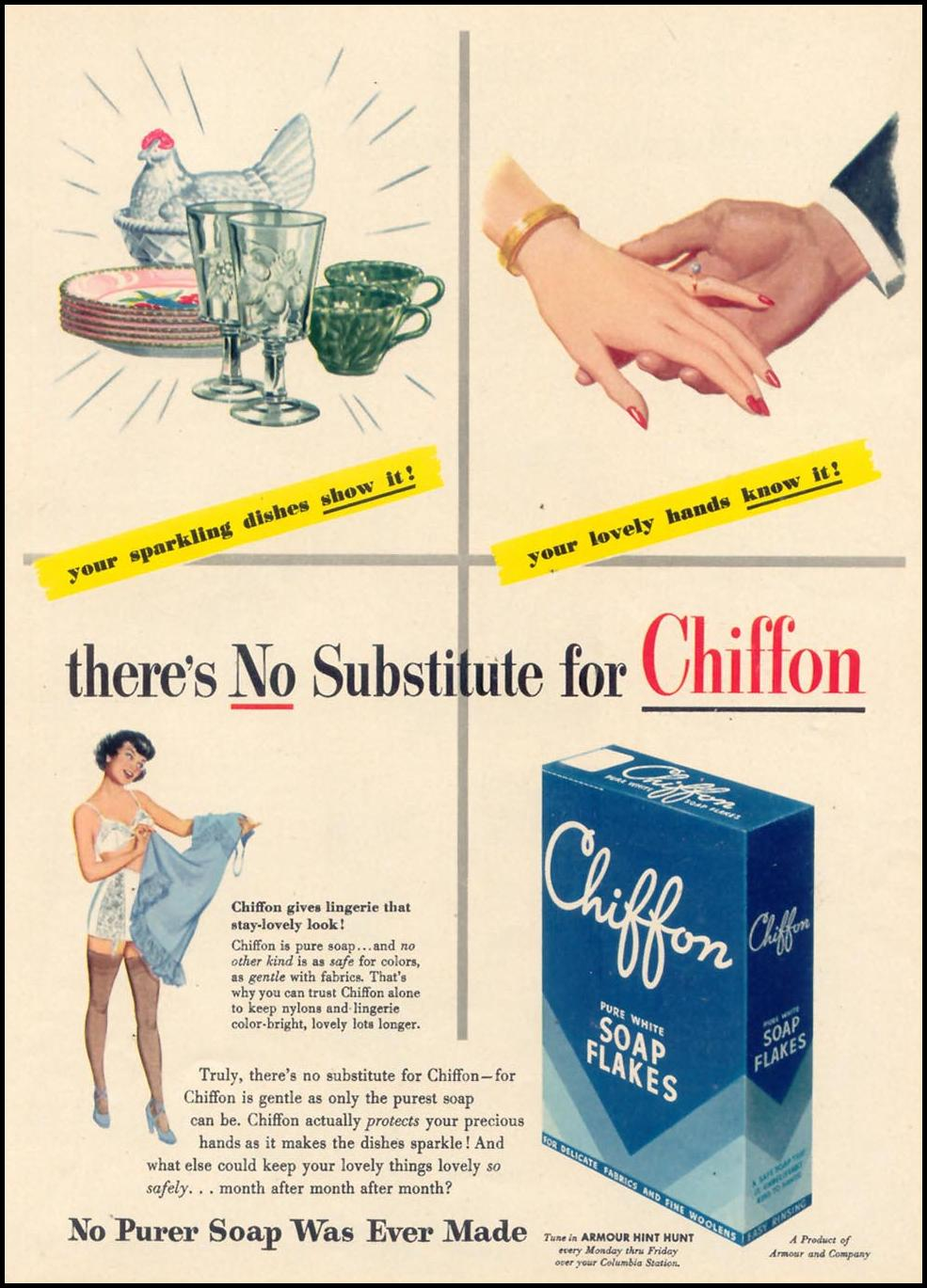 CHIFFON SOAP FLAKES WOMAN'S DAY 09/01/1948 p. 55