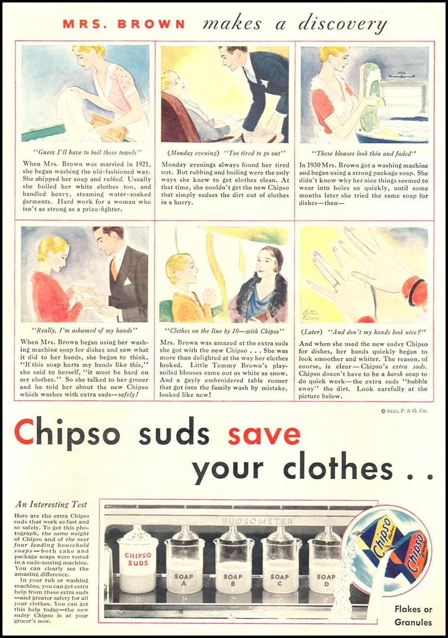 CHIPSO LAUNDRY SOAP GOOD HOUSEKEEPING 01/01/1932 p. 14