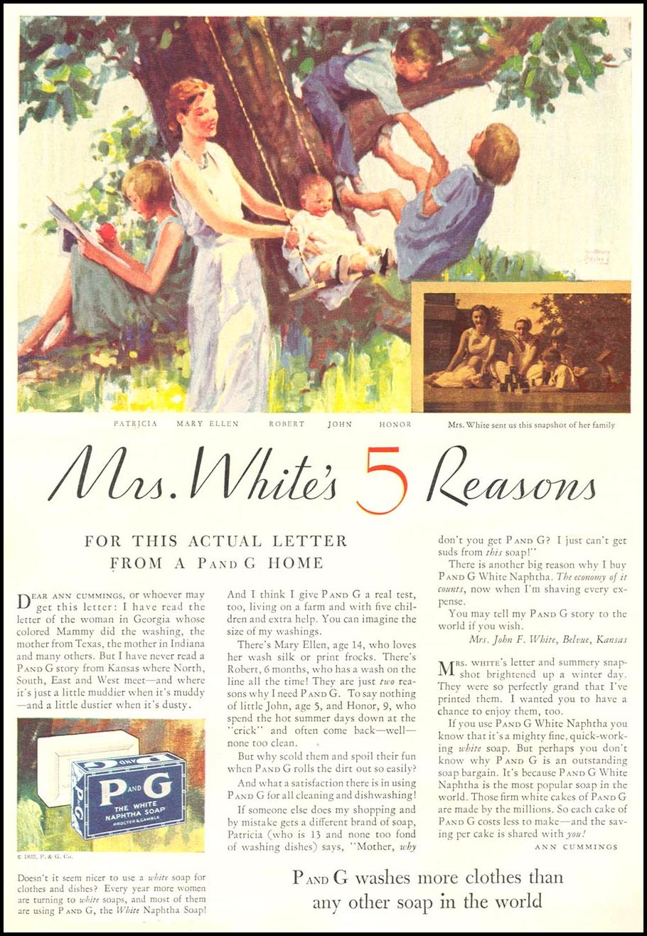 P AND G SOAP GOOD HOUSEKEEPING 01/01/1932 p. 118