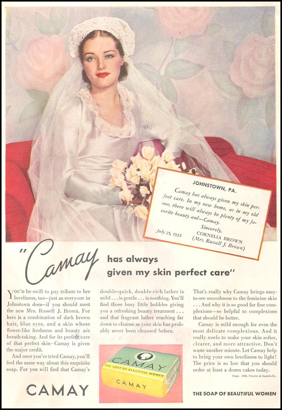 CAMAY SOAP GOOD HOUSEKEEPING 04/01/1936 p. 102