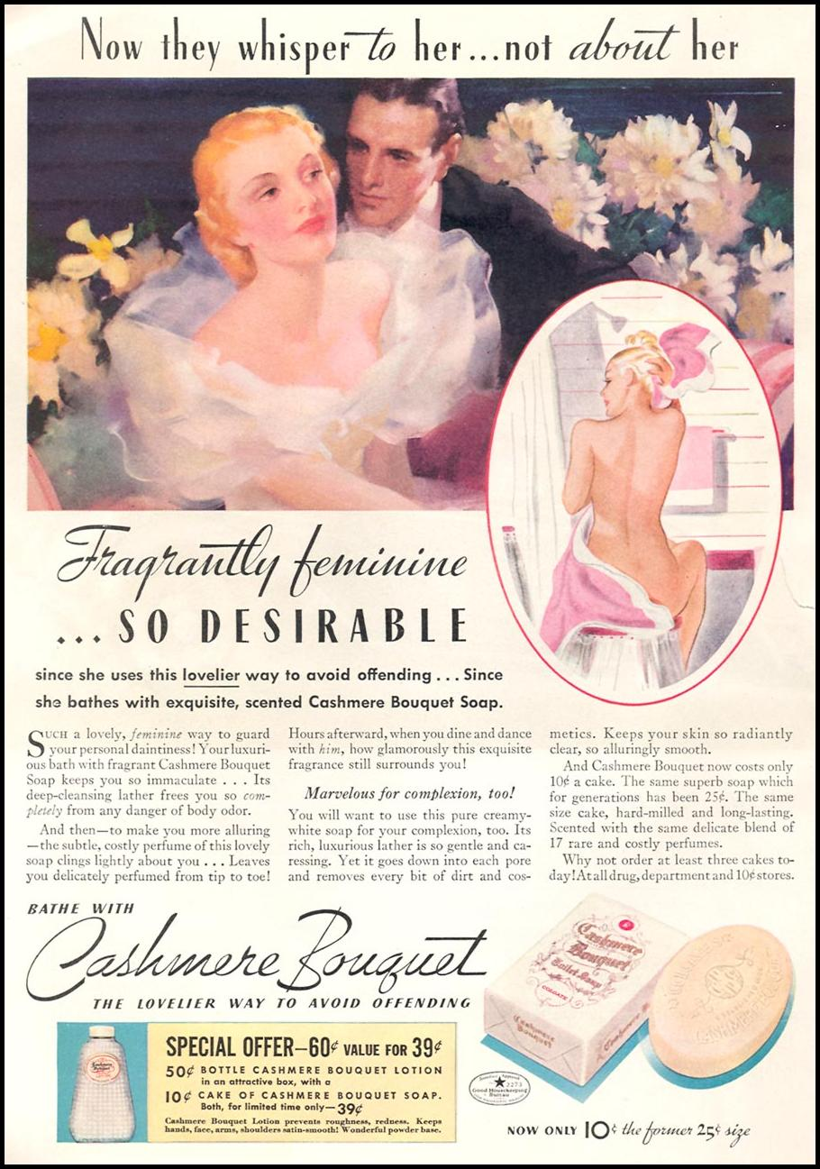CASHMERE BOUQUET SOAP GOOD HOUSEKEEPING 04/01/1936