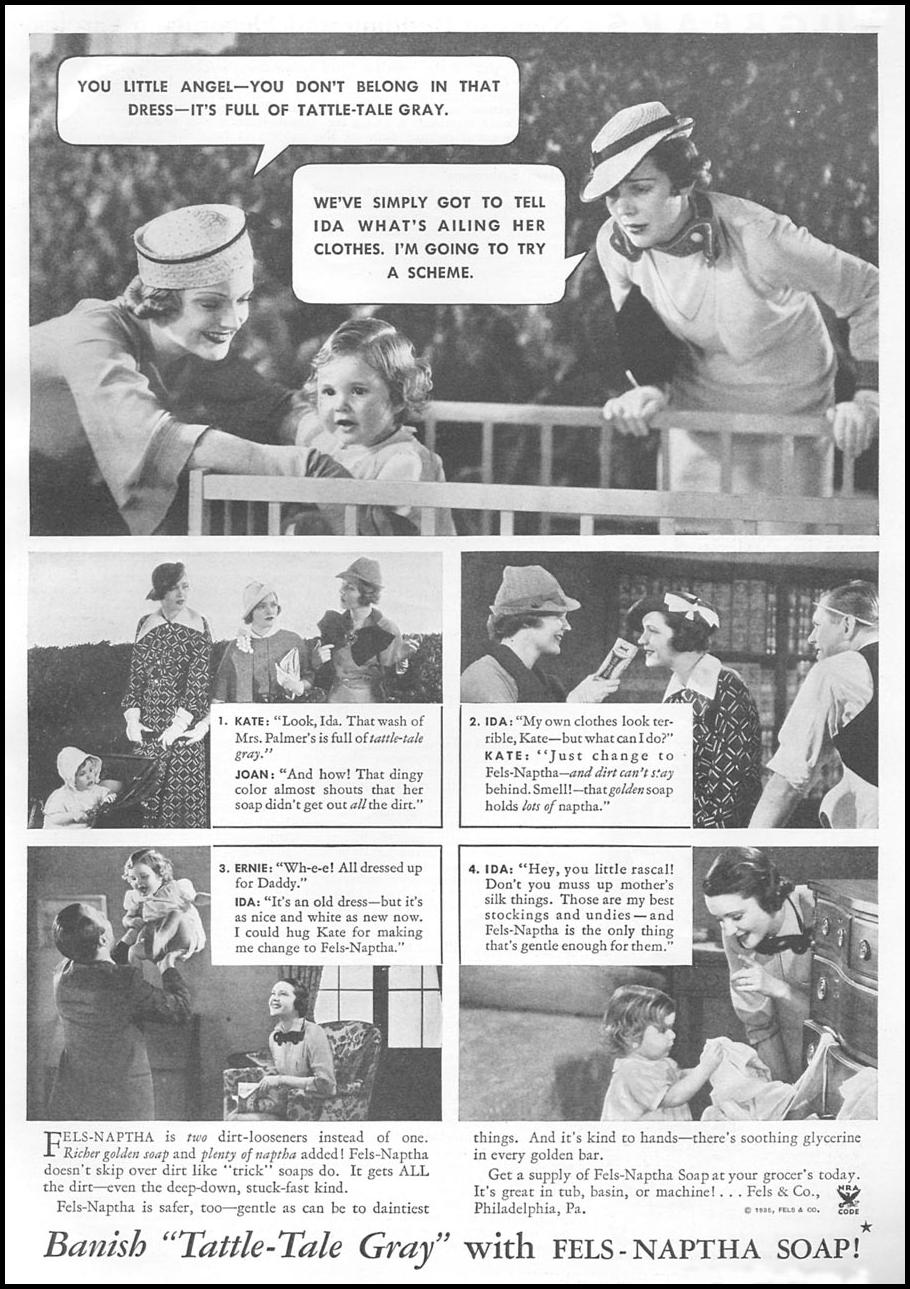 FELS-NAPTHA SOAP GOOD HOUSEKEEPING 06/01/1935 p. 99