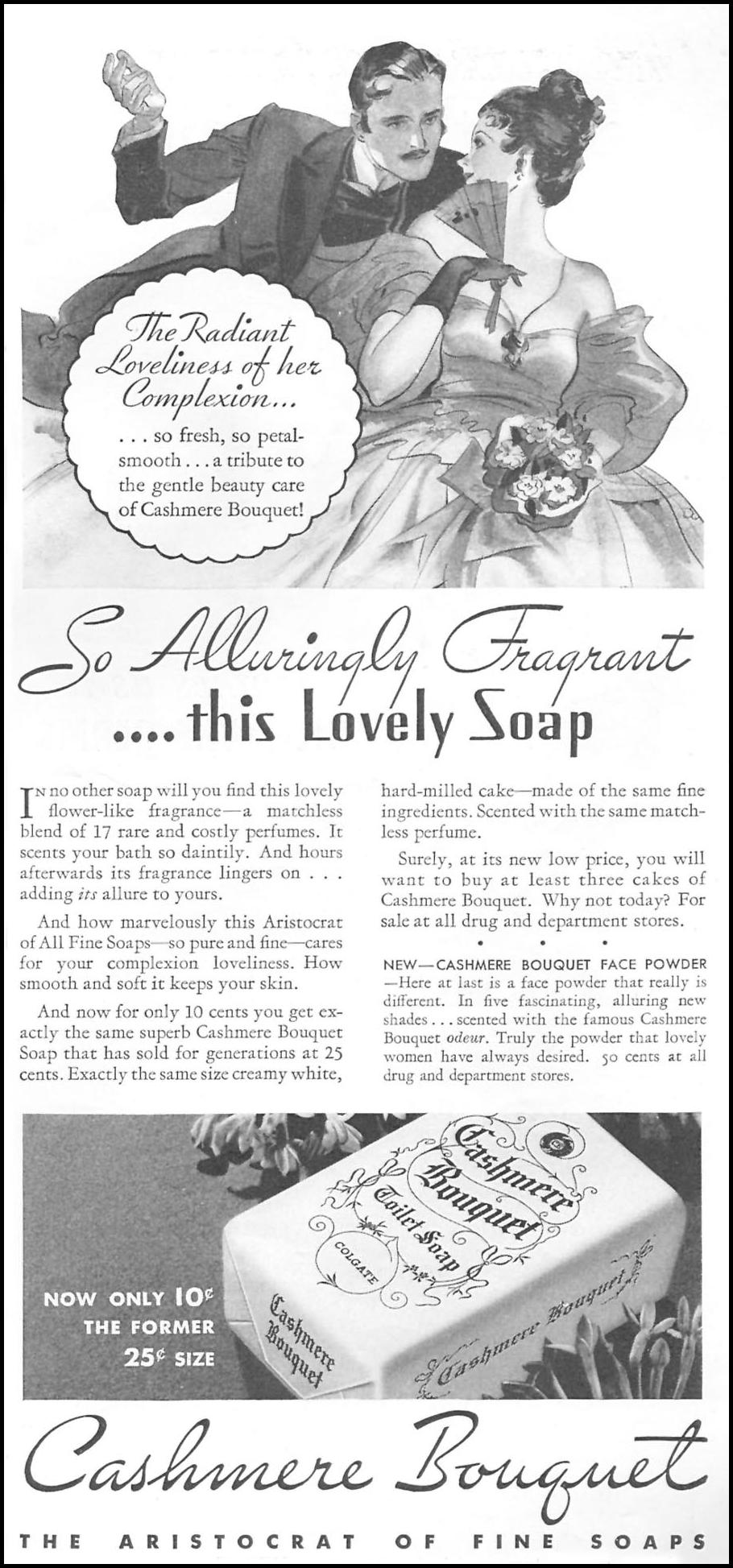 CASHMERE BOUQUET SOAP GOOD HOUSEKEEPING 06/01/1935 p. 169