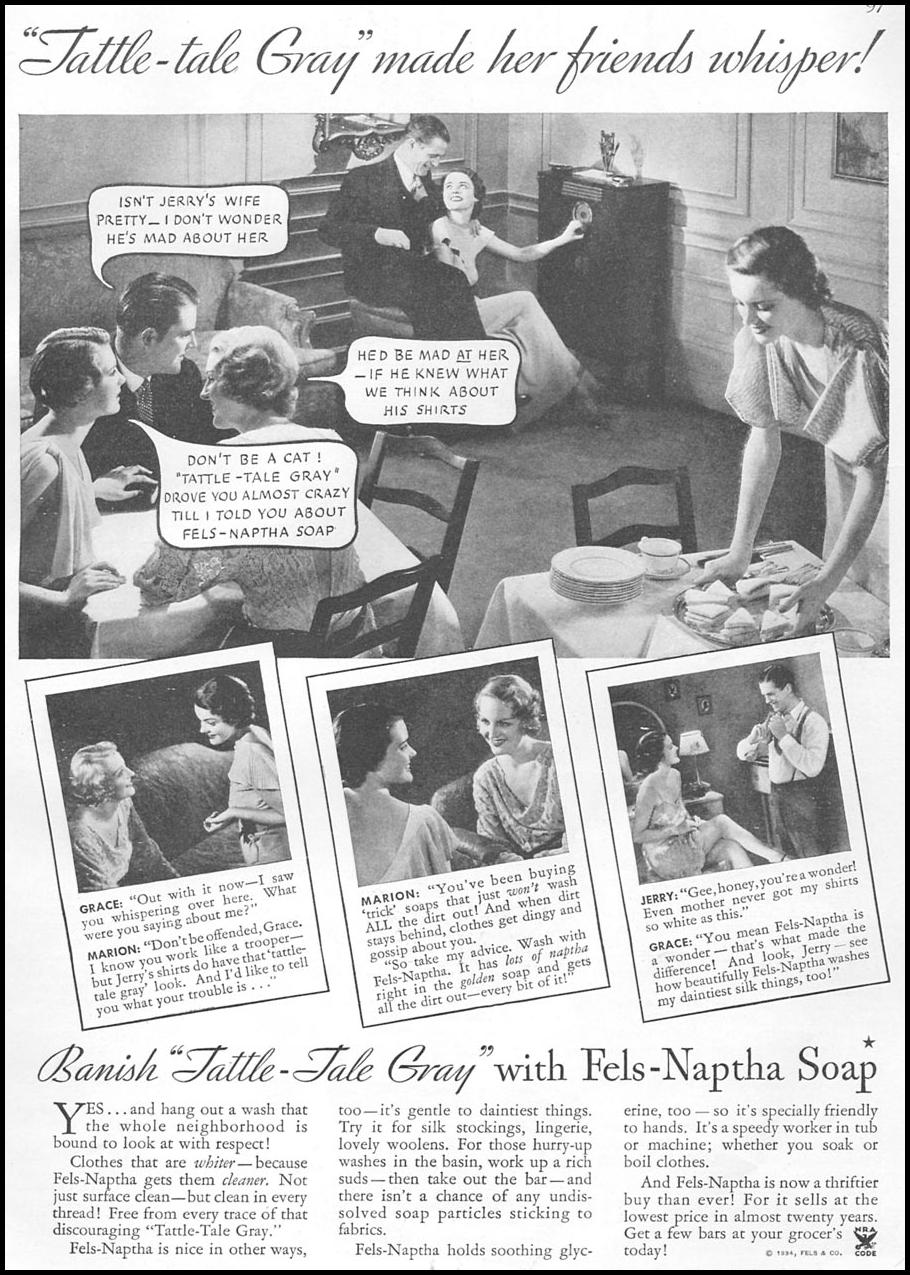 FELS-NAPTHA SOAP GOOD HOUSEKEEPING 12/01/1934 p. 97