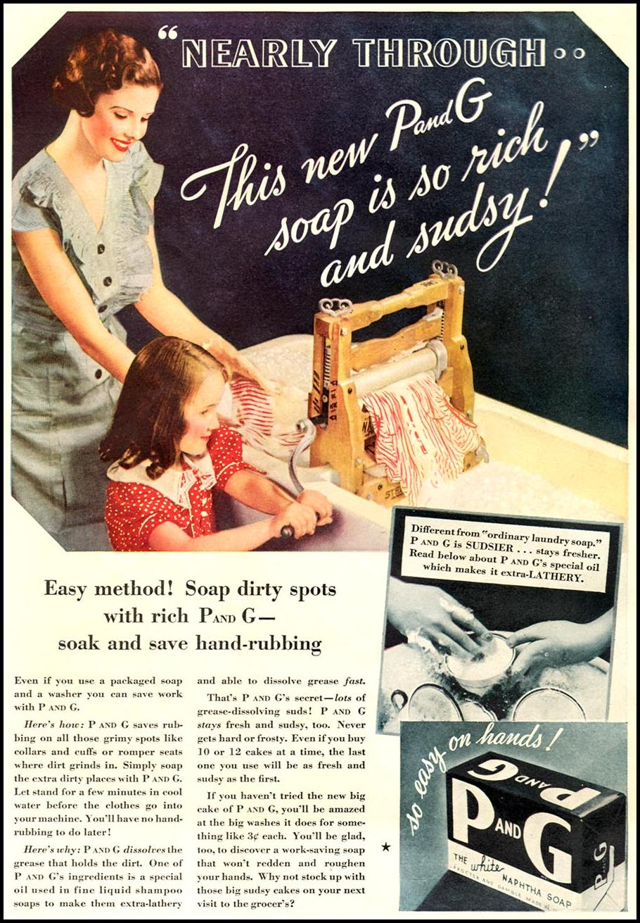 P AND G SOAP GOOD HOUSEKEEPING 12/01/1934