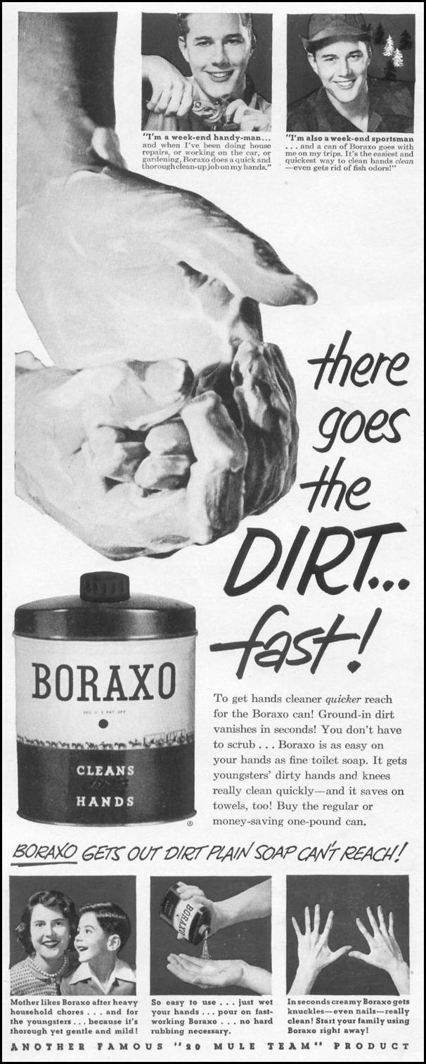 BORAXO HAND CLEANER LIFE 01/21/1952 p. 48