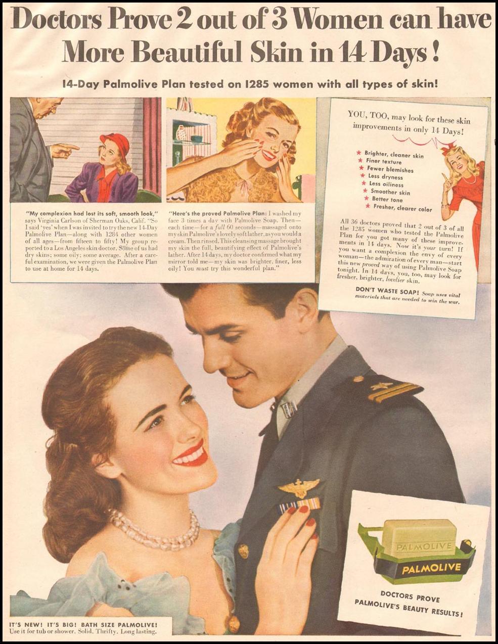 PALMOLIVE SOAP LIFE 10/23/1944 p. 64