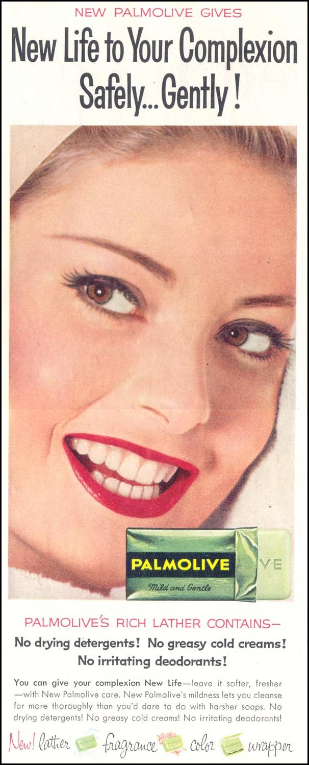 PALMOLIVE SOAP SATURDAY EVENING POST 08/15/1959 p. 56