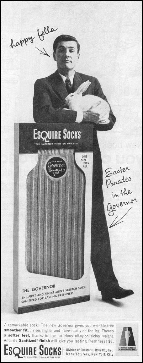 ESQUIRE SOCKS LIFE 04/08/1957 p. 102