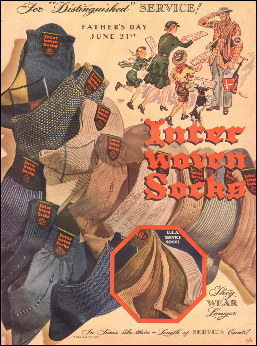 INTERWOVEN SOCKS LIFE 06/22/1942 p. 63
