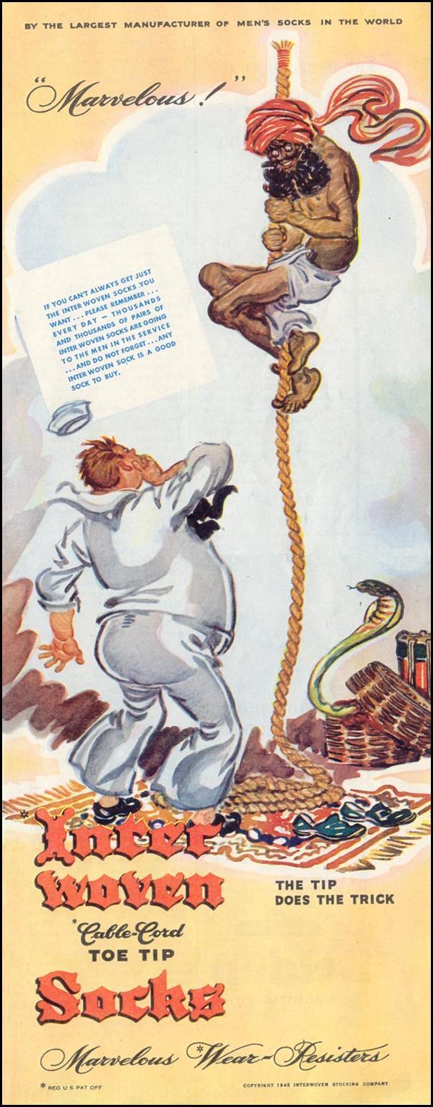 INTERWOVEN SOCKS SATURDAY EVENING POST 05/19/1945 p. 103