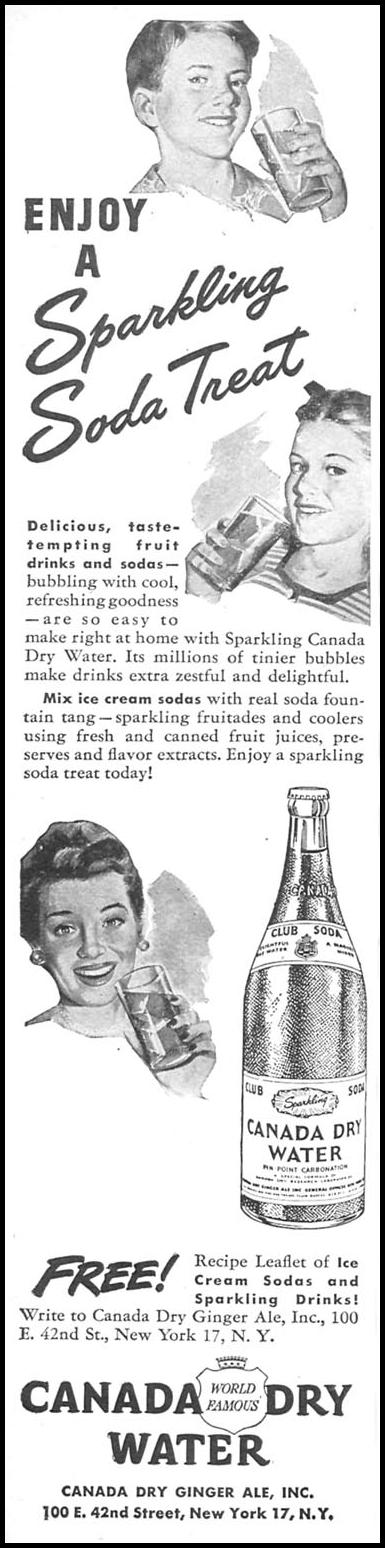 SPARKLING CANADA DRY WATER WOMAN'S DAY 11/01/1945 p. 58