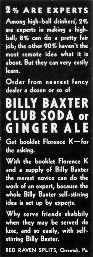 BILLY BAXTER CLUB SODA LIFE 07/26/1937 p. 87