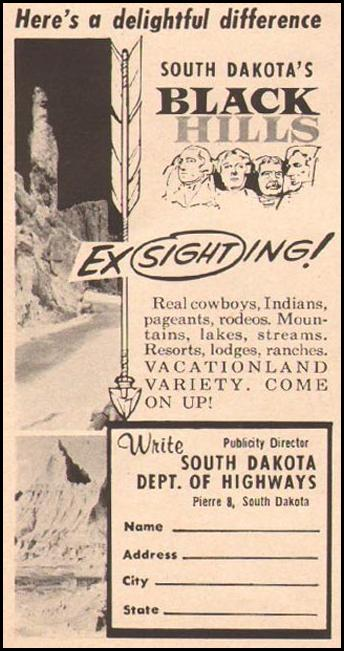 SOUTH DAKOTA VACATIONS BETTER HOMES AND GARDENS 03/01/1960 p. 128