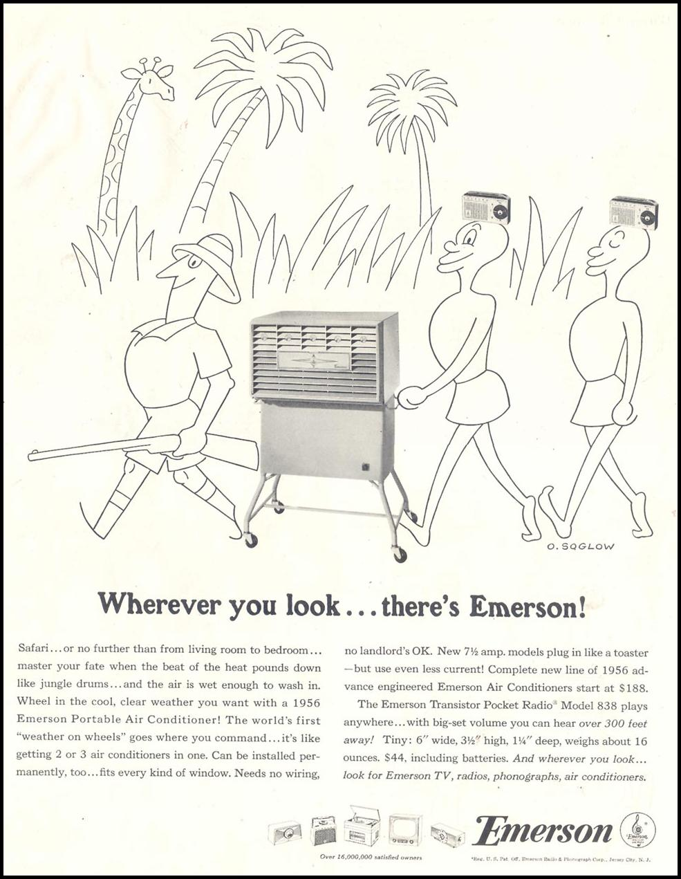 EMERSON APPLIANCES SATURDAY EVENING POST 12/10/1955 p. 56