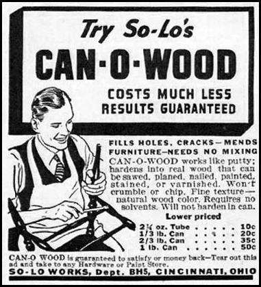 SO-LO CAN-O-WOOD BETTER HOMES AND GARDENS 05/01/1936 p. 112