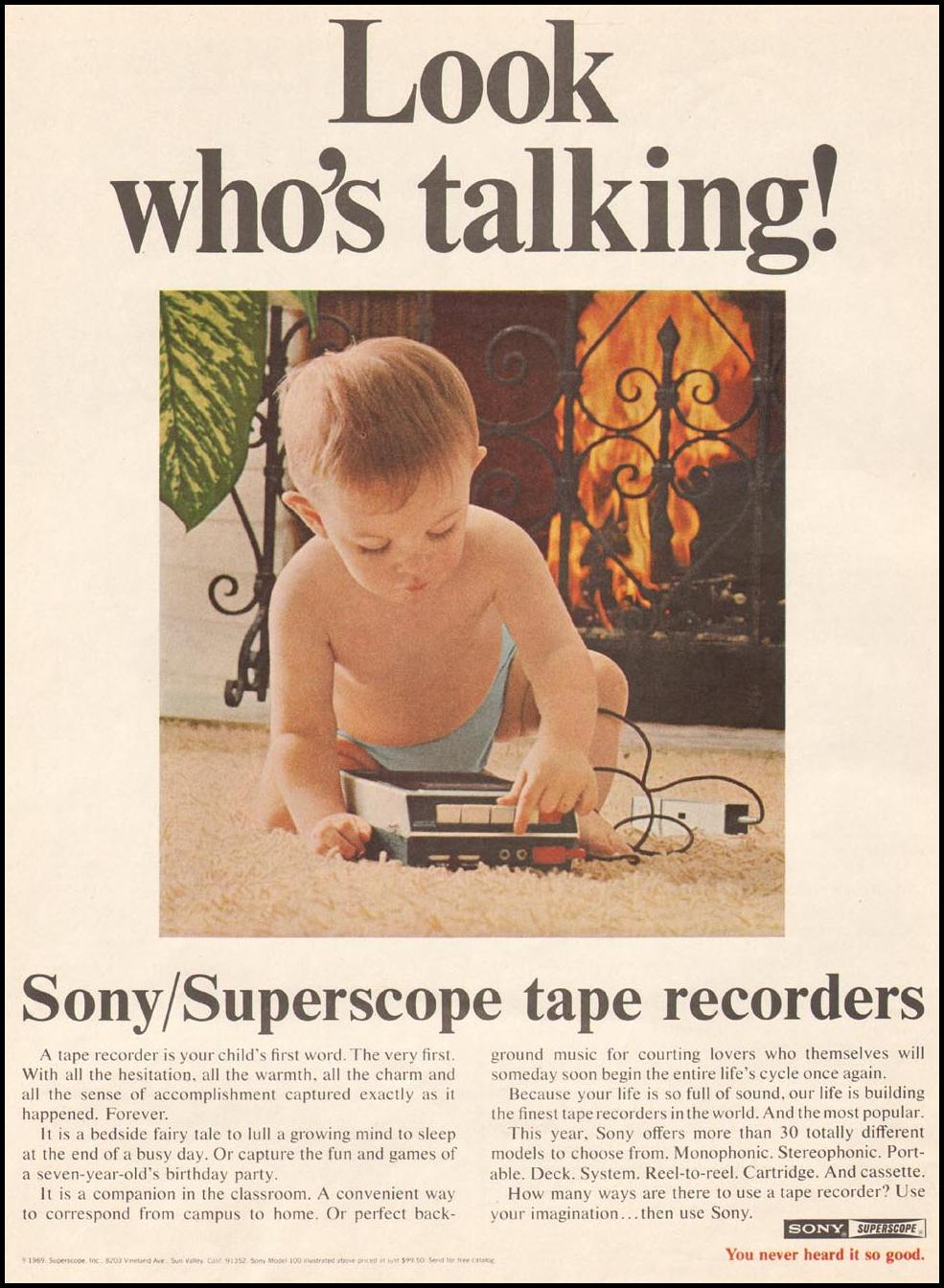 SONY SUPERSCOPE TAPE RECORDERS SATURDAY EVENING POST 02/08/1969 p. 2