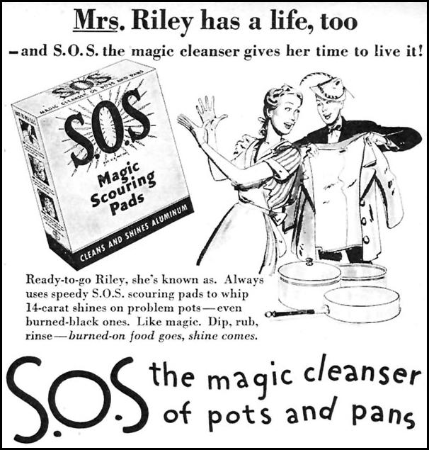 S.O.S MAGIC SCOURING PADS WOMAN'S DAY 05/01/1946 p. 71