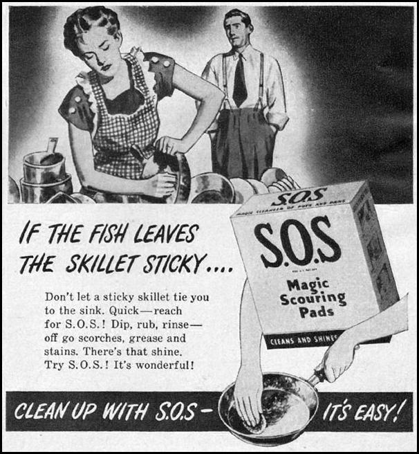 S.O.S MAGIC SCOURING PADS WOMAN'S DAY 06/01/1947 p. 103