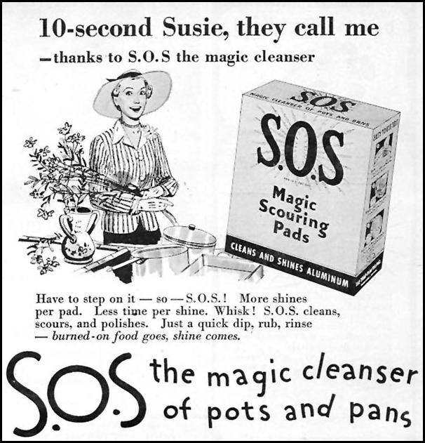 S.O.S MAGIC SCOURING PADS WOMAN'S DAY 07/01/1946 p. 73