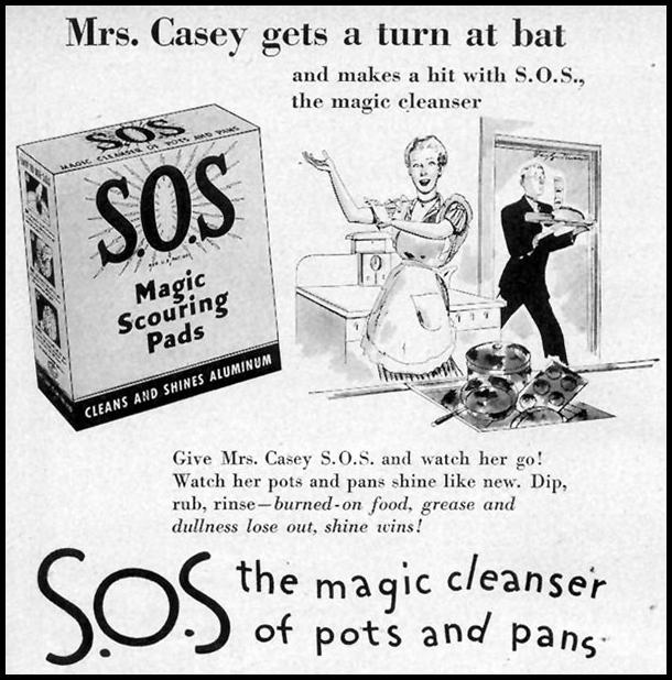 S.O.S MAGIC SCOURING PADS WOMAN'S DAY 09/01/1946 p. 64