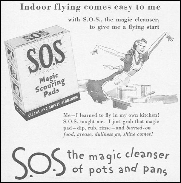 S.O.S MAGIC SCOURING PADS WOMAN'S DAY 11/01/1946 p. 68