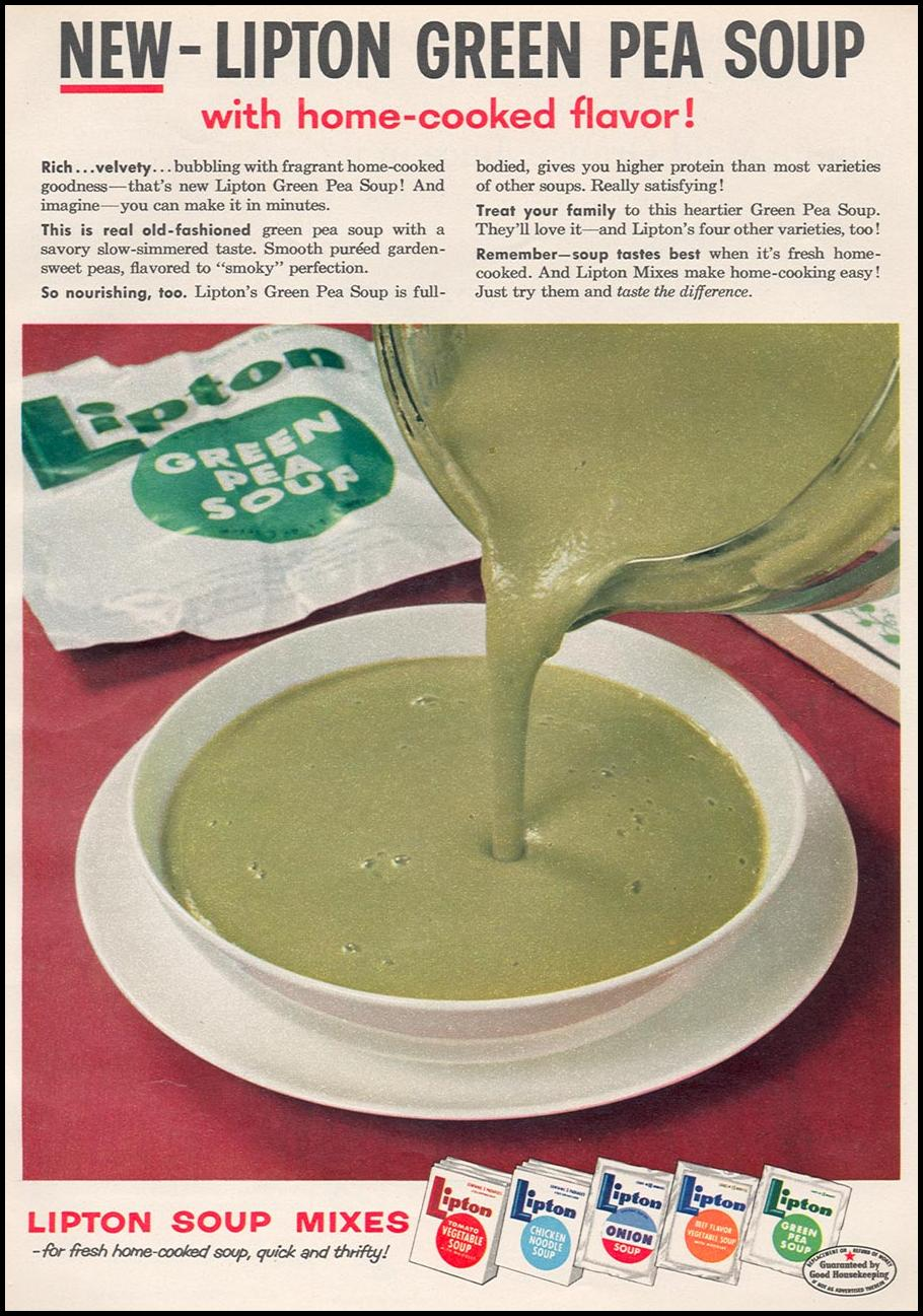 LIPTON SOUP MIXES WOMAN'S DAY 04/01/1956 p. 47