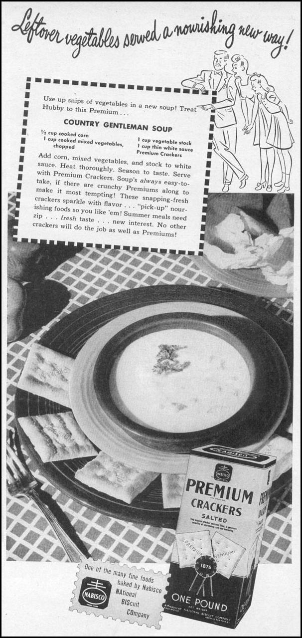 NABISCO PREMIUM CRACKERS WOMAN'S DAY 06/01/1946 p. 53