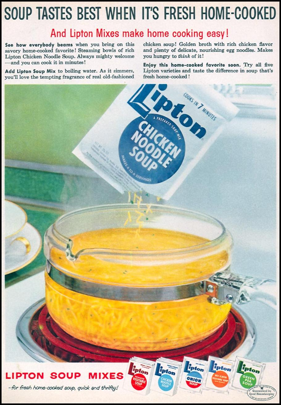 LIPTON SOUP MIXES FAMILY CIRCLE 02/01/1956 p. 64