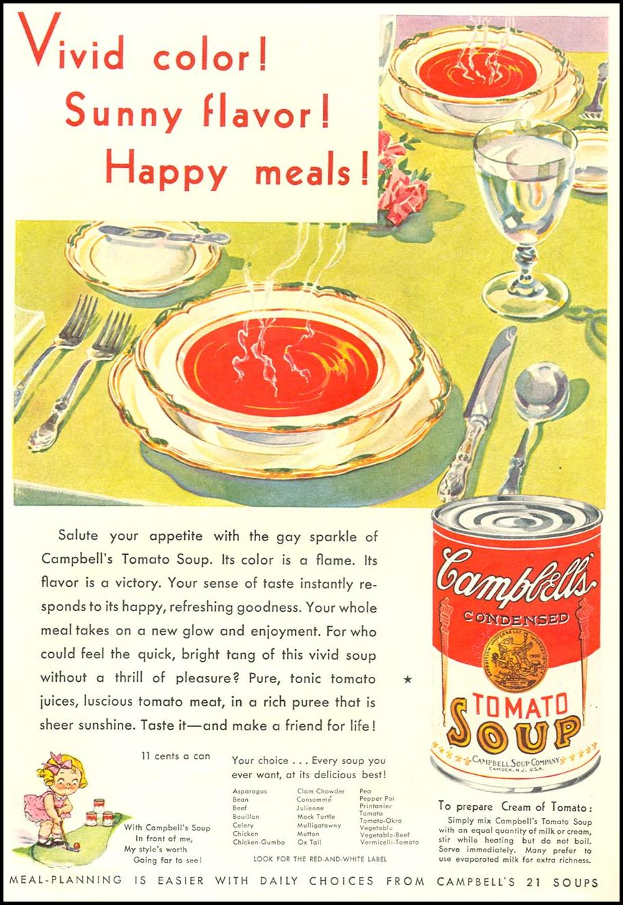 CAMPBELL'S SOUPS GOOD HOUSEKEEPING 01/01/1932 p. 93