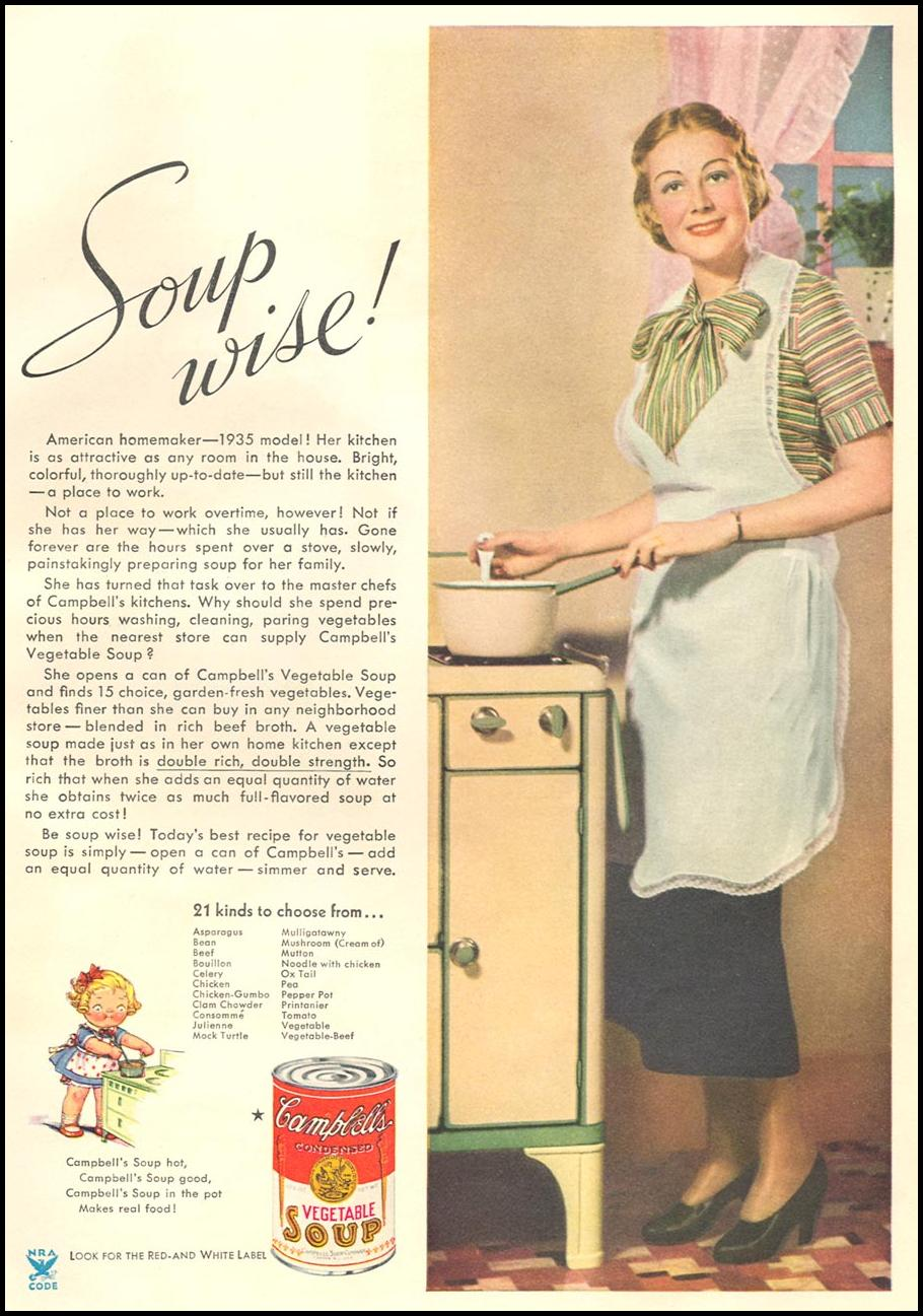 CAMPBELL'S SOUPS GOOD HOUSEKEEPING 12/01/1934
