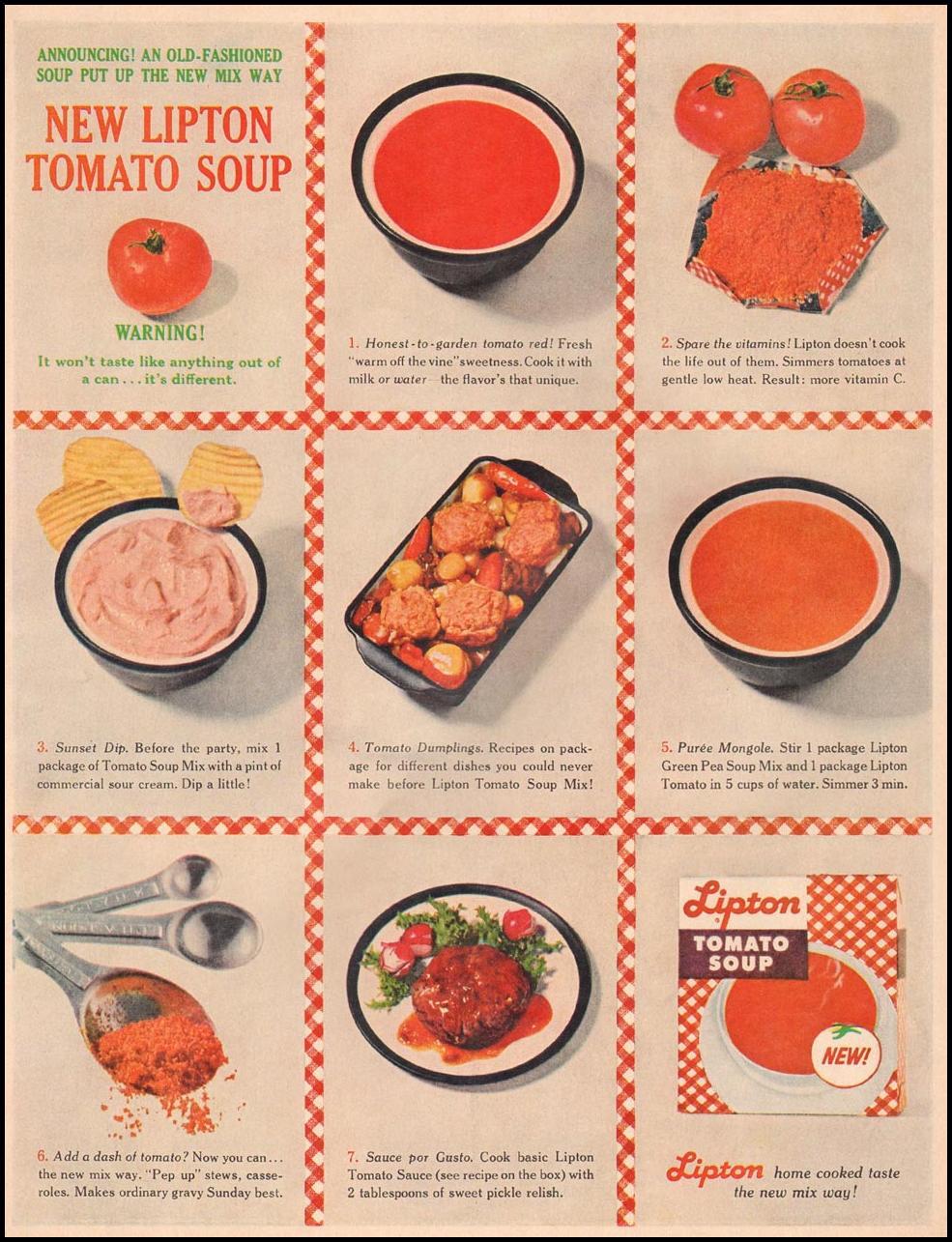 LIPTON TOMATO SOUP LIFE 03/31/1961
