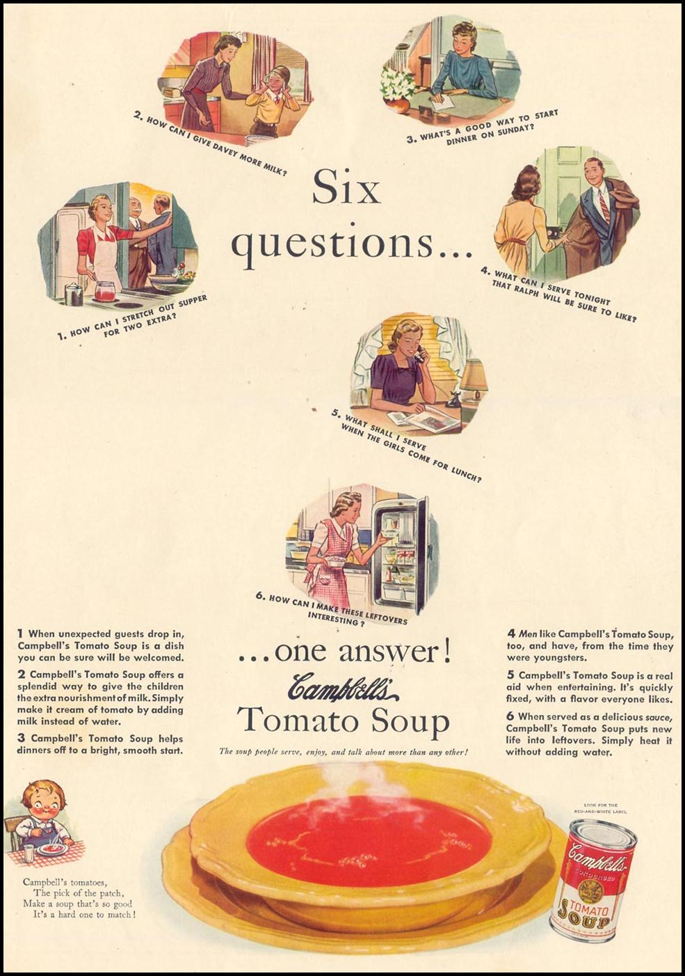 CAMPBELL'S TOMATO SOUP LIFE 09/30/1940