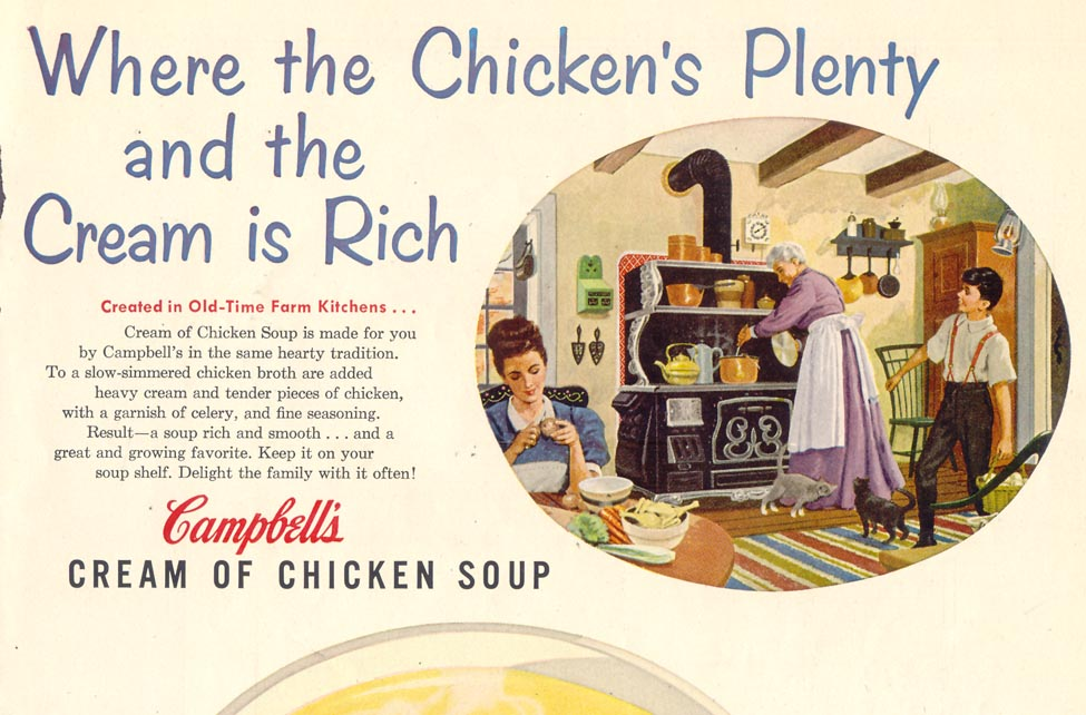 CAMPBELL'S CREAM OF CHICKEN SOUP LIFE 10/19/1953 p. 47