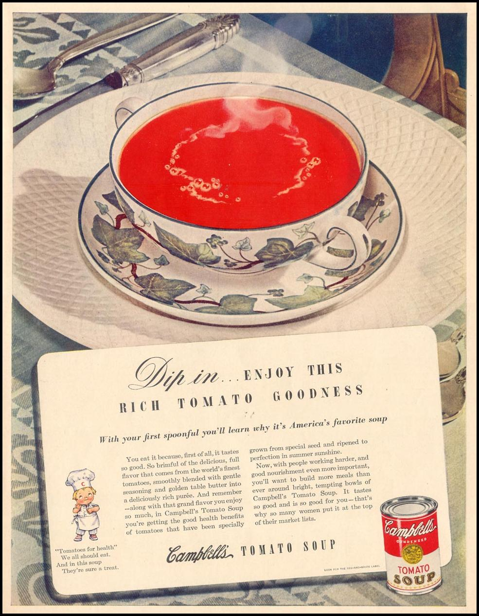 CAMPBELL'S SOUP LIFE 11/08/1943