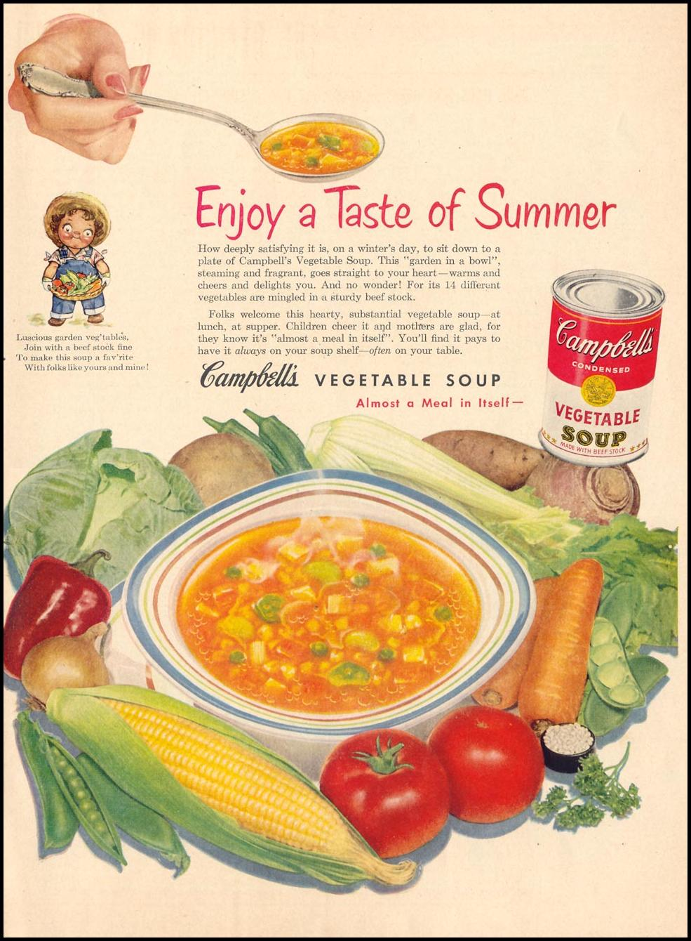 CAMPBELL'S VEGETABLE SOUP LIFE 12/24/1951