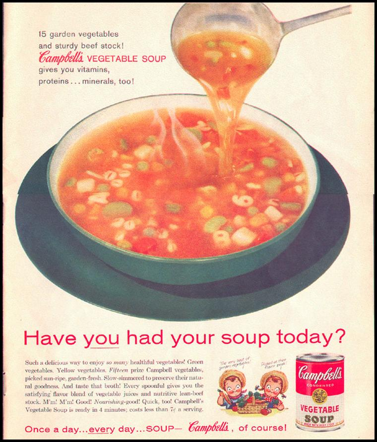 CAMPBELL'S SOUPS LOOK 09/16/1958