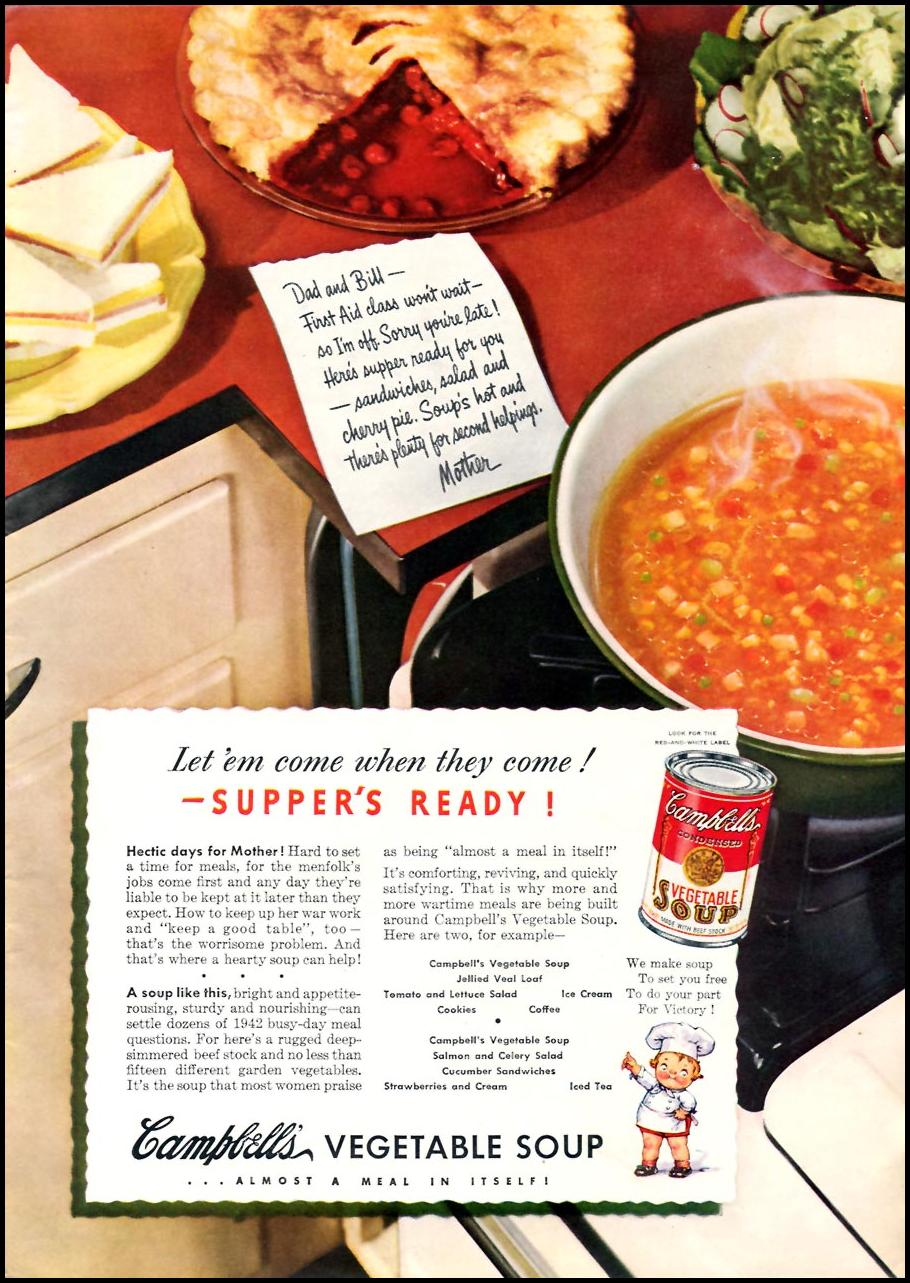 CAMPBELL'S VEGETABLE SOUP TIME 06/15/1942 p. 21