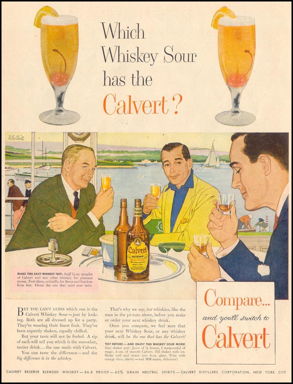 CALVERT RESERVE BLENDED WHISKEY LIFE 09/07/1953 p. 76