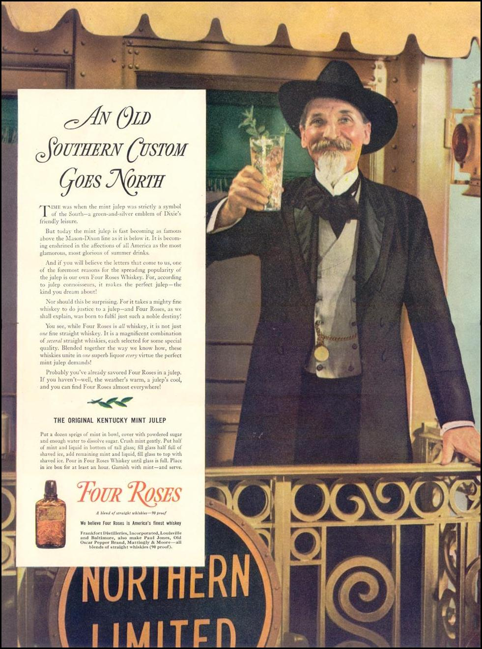 FOUR ROSES WHISKEY LIFE 08/30/1937