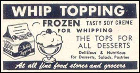 SOY WHIP TOPPING GOOD HOUSEKEEPING 07/01/1949 p. 201