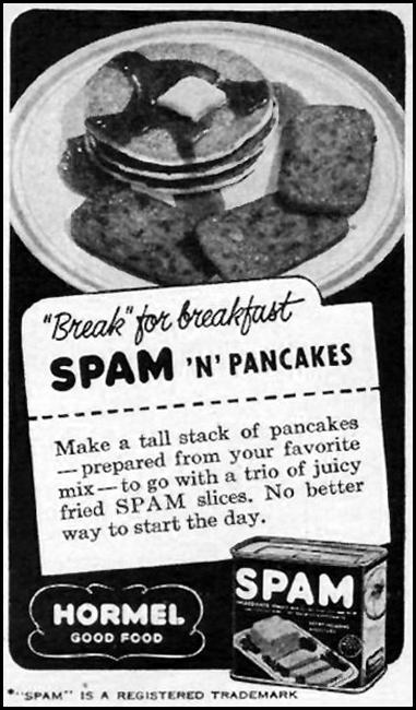 SPAM WOMAN'S DAY 01/01/1949 p. 113