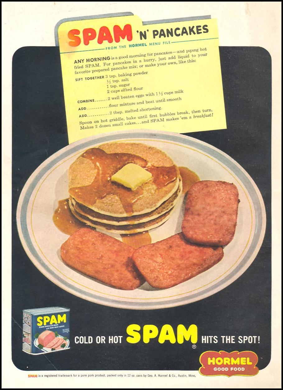 SPAM WOMAN'S DAY 03/01/1948 BACK COVER