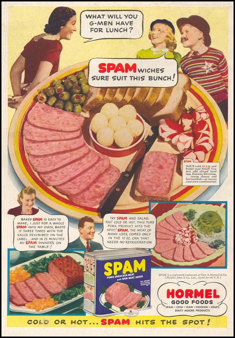 SPAM WOMAN'S DAY 05/01/1941 BACK COVER
