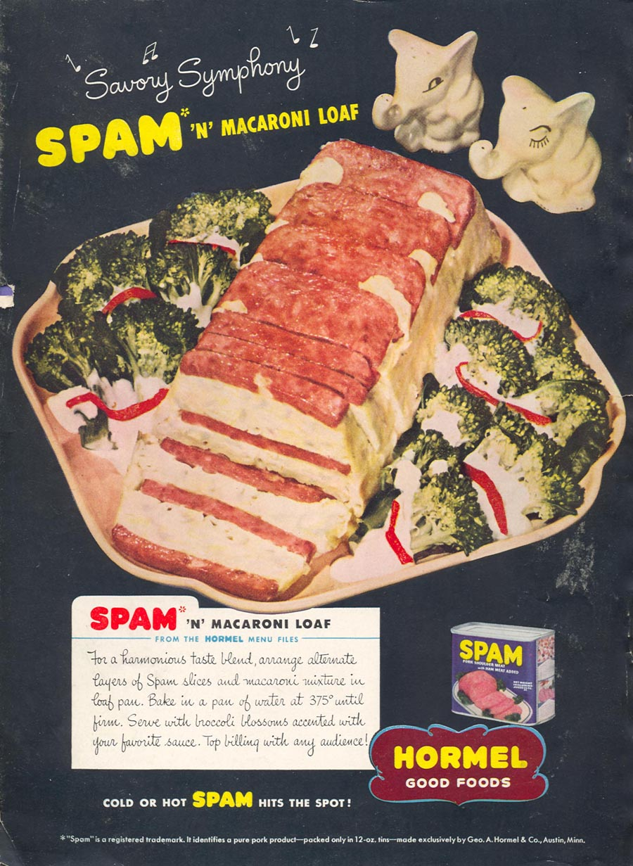 SPAM WOMAN'S DAY 05/01/1946 BACK COVER