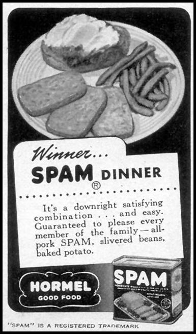 SPAM WOMAN'S DAY 05/01/1949 p. 116