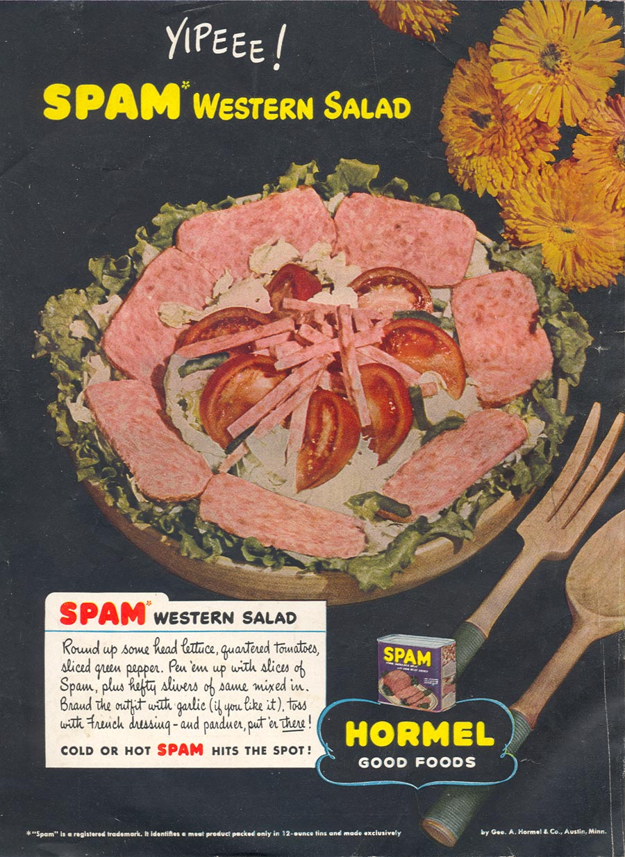 SPAM WOMAN'S DAY 07/01/1945 BACK COVER